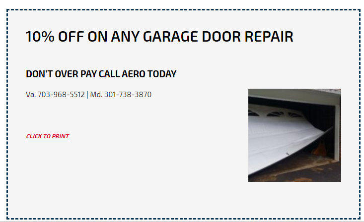 10% Discount on Any Garage Door Repair at Aero Garage Doors