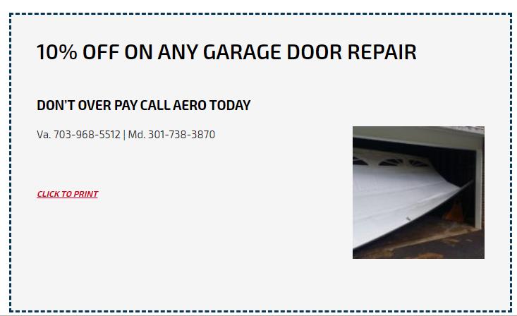 10% Discount on Any Garage Door Repair at Aero Garage Doors